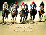 PowerPoint Template - image of a horse racing