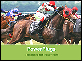 PowerPoint Template - image of horse racing