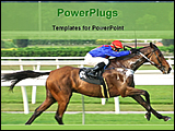 PowerPoint Template - horse racing in race course