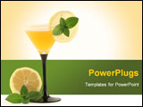 PowerPoint Template - A glass with a cocktail and a lemon