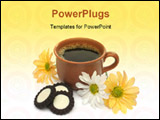 PowerPoint Template - a beautiful coffee breakfast with cookies and flowers. look at my gallery for more delicious meals