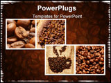 PowerPoint Template - Coffee themed collage made from four images please visit my portfolio for similar images