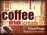 PowerPoint Template - Coffee Artistic Menu as a Abstract Background