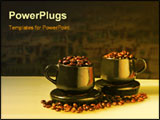 PowerPoint Template - Pair of cups filled with coffee beans