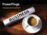 PowerPoint Template - Still life of coffee and business file on table