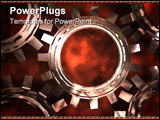 PowerPoint Template - A high quality 3d render of 5 connected cogs