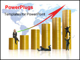 PowerPoint Template - coins graph with business people
