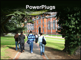 PowerPoint Template - group of students walking to university building