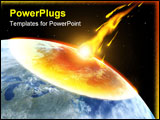 PowerPoint Template - Global accident - collision of an asteroid with the Earth