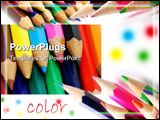 PowerPoint Template - A collections of dfferent photos of colorful crayons