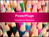 PowerPoint Template - Color pencils close-up