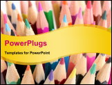 PowerPoint Template - Colour pencils close-up