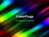PowerPoint Template - Rainbow colored lights against a black background.