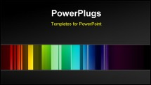 PowerPoint Template - Multicolored bars background
