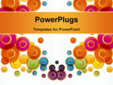 PowerPoint Template - Flying up the colored circles on a light background