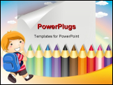 PowerPoint Template - colored pencils