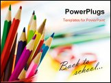PowerPoint Template - colored pencils in glass with shallow depth of field