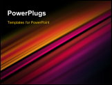 PowerPoint Template - Color light strokes vector background.