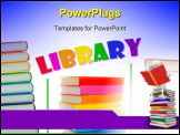 PowerPoint Template - Collage of colorful books