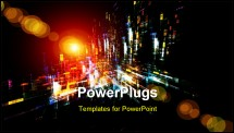 PowerPoint Template - ynamic interplay of attractive forms on the subject of modern technologies communications energy mo