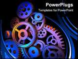 PowerPoint Template - Machinery and engineering concept: abstract colorful gears background