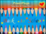 PowerPoint Template - photo of the concept of back to school many crayons