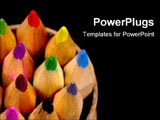 PowerPoint Template - Arrangement of color pencils