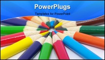PowerPoint Template - Color pencils