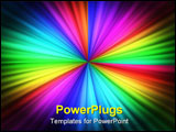 PowerPoint Template - Green red blue and fuchsia lines with motion effects