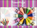 PowerPoint Template - This is a photo of some crayons