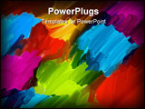 PowerPoint Template - artists background - digitally painted with oil brushes