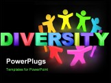 PowerPoint Template - A group of connecting colourful people. See my gallery for more.