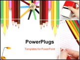 PowerPoint Template - Colorful office collage made from five photographs