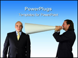 PowerPoint Template - talking down the megaphone