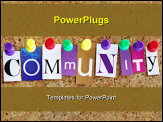 PowerPoint Template - community concept with different colors