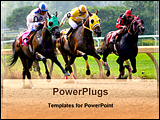 PowerPoint Template - competition of horse racing