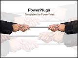 PowerPoint Template - Hands pulls on rope.