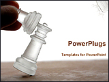 PowerPoint Template - image of a chess competition
