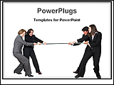 PowerPoint Template - image showing business teamwork competition