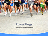 PowerPoint Template - group of people running in a competition