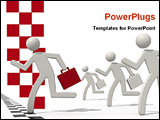 PowerPoint Template - an illustrative image showing a winner businessman
