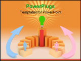 PowerPoint Template - a blue man pink woman in competition