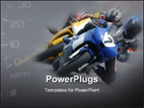 PowerPoint Template - Motor bike racing