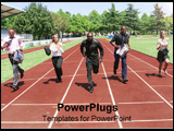 PowerPoint Template - a group of business people in a running race