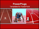 PowerPoint Template - an athlete ready to start