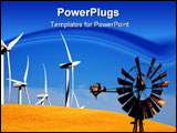 PowerPoint Template - Old vs. new windmill. Always someone younger and stronger at your back to take your job.