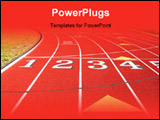 PowerPoint Template - curve on the running track.