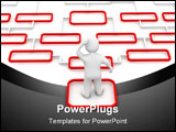 PowerPoint Template - Man and complicated diagram. 3d rendered illustration.