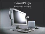 PowerPoint Template - advance multimedia computer system with flat tft monitor