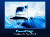 PowerPoint Template - Abstract Background Image of Computer and Internet Connection